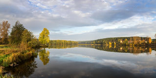Autumn landscape on the river Ural, the Irtysh, Russia Stock Photos