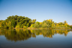 Autumn landscape of river Stock Photography