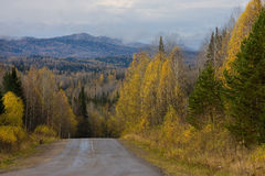 Autumn landscape - road Royalty Free Stock Photography
