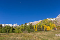 Autumn Landscape in the Rockies Stock Images
