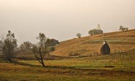 Autumn landscape in Romania Stock Photo