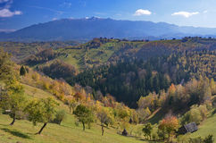 Autumn landscape in Romania Royalty Free Stock Photos