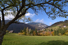 Autumn landscape in Romania Stock Photography