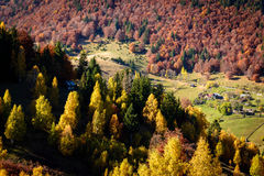 Autumn Landscape in Romania Stock Photos