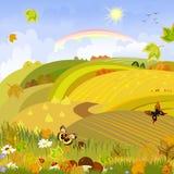 Autumn landscape rural expanses Stock Images