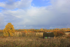Autumn landscape, Russia Stock Images