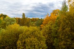 Autumn landscape in Russia. An autumn landscape in Russia at the end of September Royalty Free Stock Images