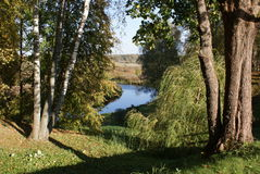 Autumn landscape. Russia in October Royalty Free Stock Images