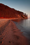 Autumn landscape by the sea. Sunrise over the sea, view of the beautifully cliff stock photography