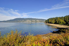 Autumn landscape by a sea Stock Image