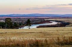 Autumn landscape. Selenga River Royalty Free Stock Photography