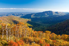 Autumn landscape in Shenandoah. Autumn landscape with mountains in Shenandoah National park Stock Photography