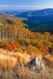 Autumn landscape in Shenandoah. Autumn landscape with mountains in Shenandoah National park Royalty Free Stock Images