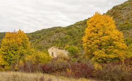 Autumn landscape in the south of France Stock Photo