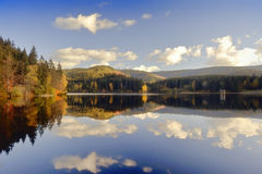 Autumn landscape in Sösestausee Royalty Free Stock Image
