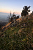 Autumn landscape at sunset Stock Photo