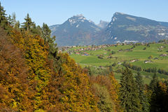 Autumn landscape , Swiss Alps, Switzerland Royalty Free Stock Photo