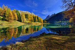 Autumn landscape in Switzerland Royalty Free Stock Images