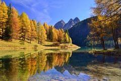 Autumn landscape in Switzerland Royalty Free Stock Image