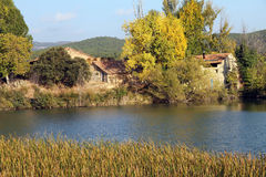 Autumn landscape,Teruel Stock Photo