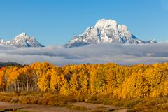 Autumn Landscape in the Tetons. A scenic landscape in the Tetons in autumn Royalty Free Stock Images