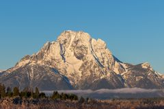 Autumn Landscape in the Tetons at Sunrise. A beautiful autumn landscape in the Tetons at sunrise Royalty Free Stock Images