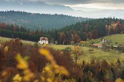 Autumn landscape in Transylvania, Poiana Marului Royalty Free Stock Photo