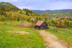 Autumn landscape in Transylvania Royalty Free Stock Photos