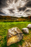 Autumn Landscape Under Dark Clouds Photographie stock