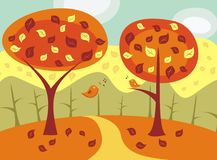 Autumn landscape in vector Stock Photo