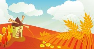 Autumn landscape in vector Royalty Free Stock Photos