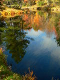 Autumn landscape VI. Autumn landscape in Canada perfect reflection stock image
