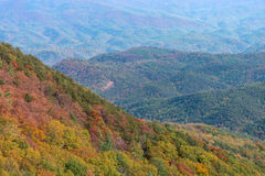 Autumn Landscape View of the Blue Ridge Mountains Royalty Free Stock Image