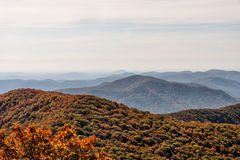 Autumn Landscape View from Brasstown Bald Mountain in Georgia Royalty Free Stock Photos