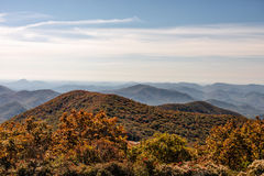 Autumn Landscape View from Brasstown Bald Mountain in Georgia Royalty Free Stock Image