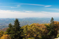 Autumn Landscape Viewed From Brasstown Bald Mountain Royalty Free Stock Images