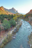 Autumn Landscape on the Virgin River Stock Photography