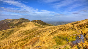Autumn Landscape in Volcanic Mountains Royalty Free Stock Photos