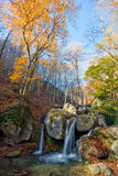 Autumn landscape with waterfall Royalty Free Stock Images