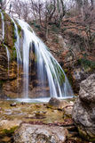 Autumn Landscape with waterfall. Autumn landscape with a waterfall in the Crimean wood stock image