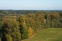 Autumn in landscapes. Autumn in karula natural reeserve Royalty Free Stock Photos