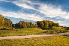 Autumn in landscapes. Autumn in karula natural reeserve Royalty Free Stock Images