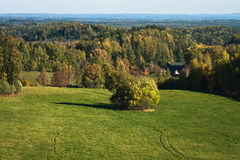 Autumn in landscapes. Autumn in karula natural reeserve Stock Photos