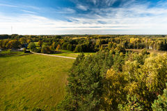 Autumn in landscapes. Autumn in karula natural reeserve Stock Image