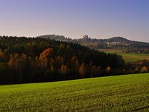 Autumn lanscape of czech moravian highland in the Czech republic Stock Images