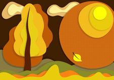 Autumn layer background Royalty Free Stock Photo