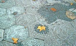 Autumn leaf. On old background Royalty Free Stock Image