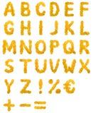 Autumn leaf Alphabet Royalty Free Stock Photos