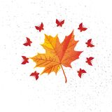 Autumn leaf. Autumn maple leaf isolated on a white background Vector illustration royalty free illustration
