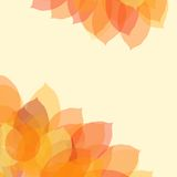 Autumn leaf background with space for text, vector. Illustration stock illustration